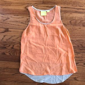 Silk Anthropologie racerback tank